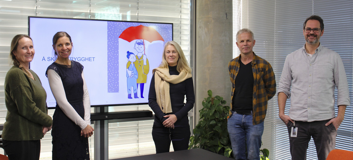 Sandra Mars, June Andersen, Tone Weire Jørgensen, Torstein Garcia de Presno og Øyvind Dåsvatn