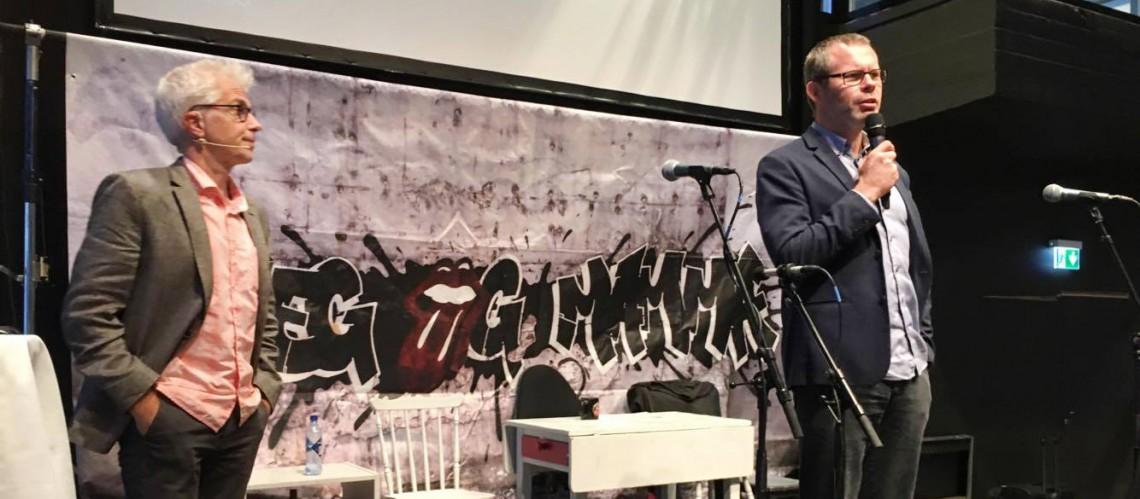 RVTS Sørs fagleder Heine Steinkopf (t.v) og prosjektleder Pål Solhaug.