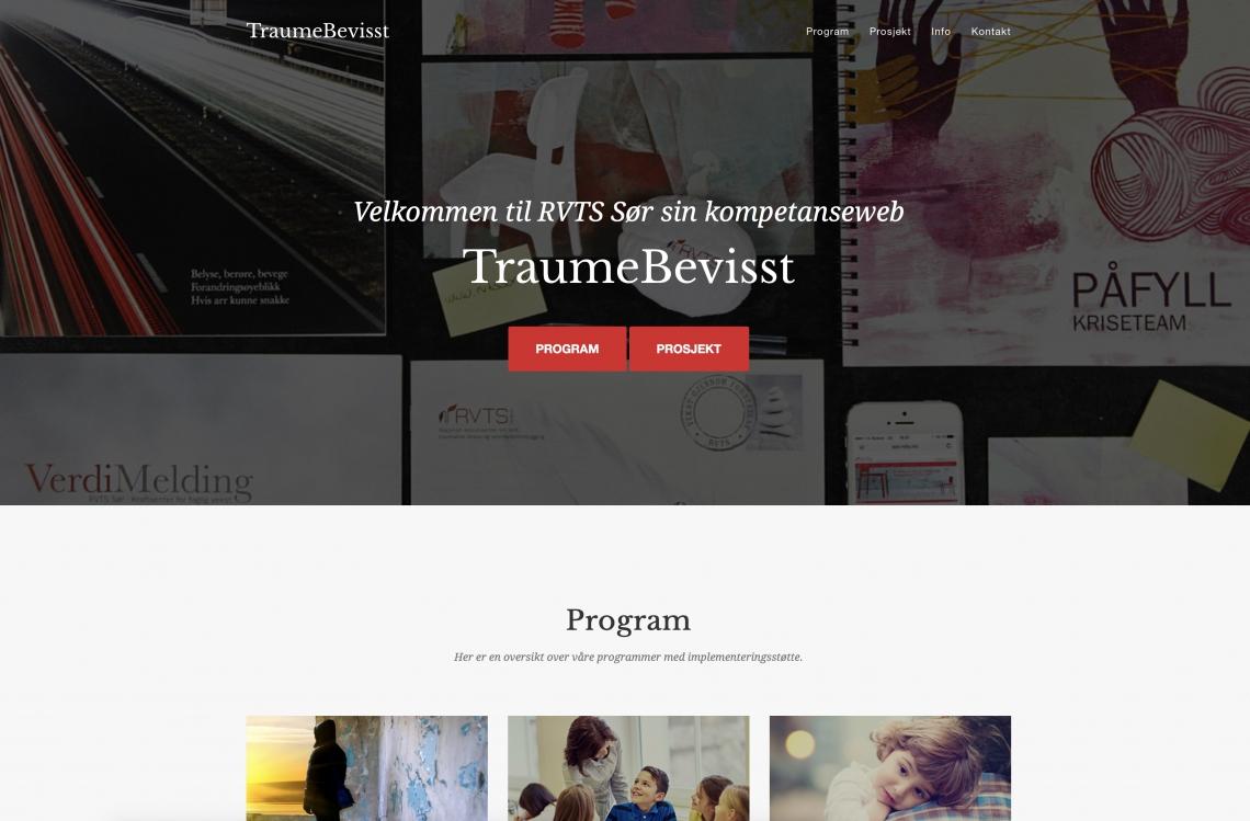 På traumebevisst.no finner du en samlet oversikt over våre program- og prosjektsider.
