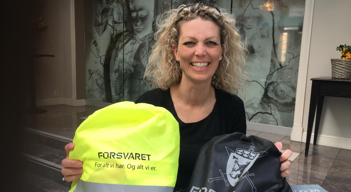 Trine Viste Gabrielsen, regional rådgiver Vest og Sør Norge, i Forsvarets veterantjeneste. Foto: Eva Dønnestad