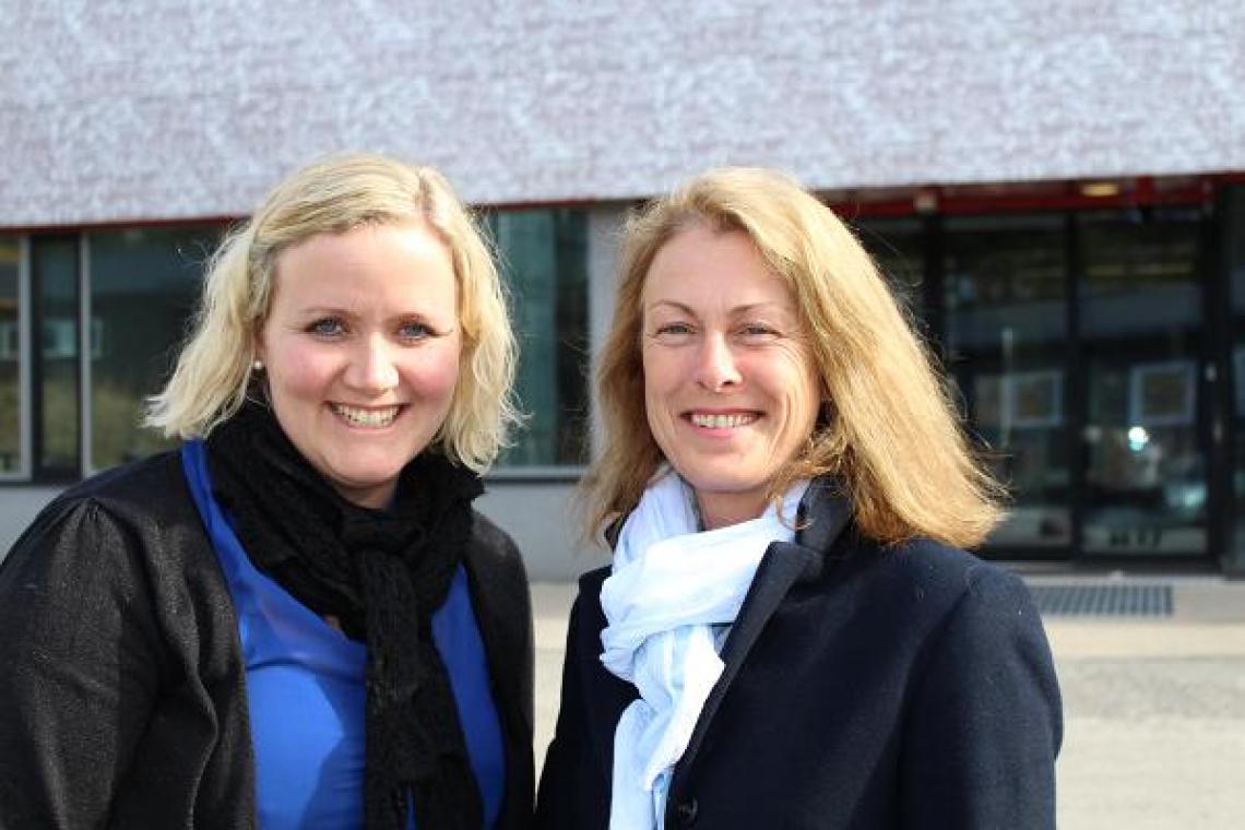 Prosjektansvarlig fra RVTS Sør, Tone Weire Jørgensen og Camilla Erlandsen, TBO-kontakt i Barnevern Sør